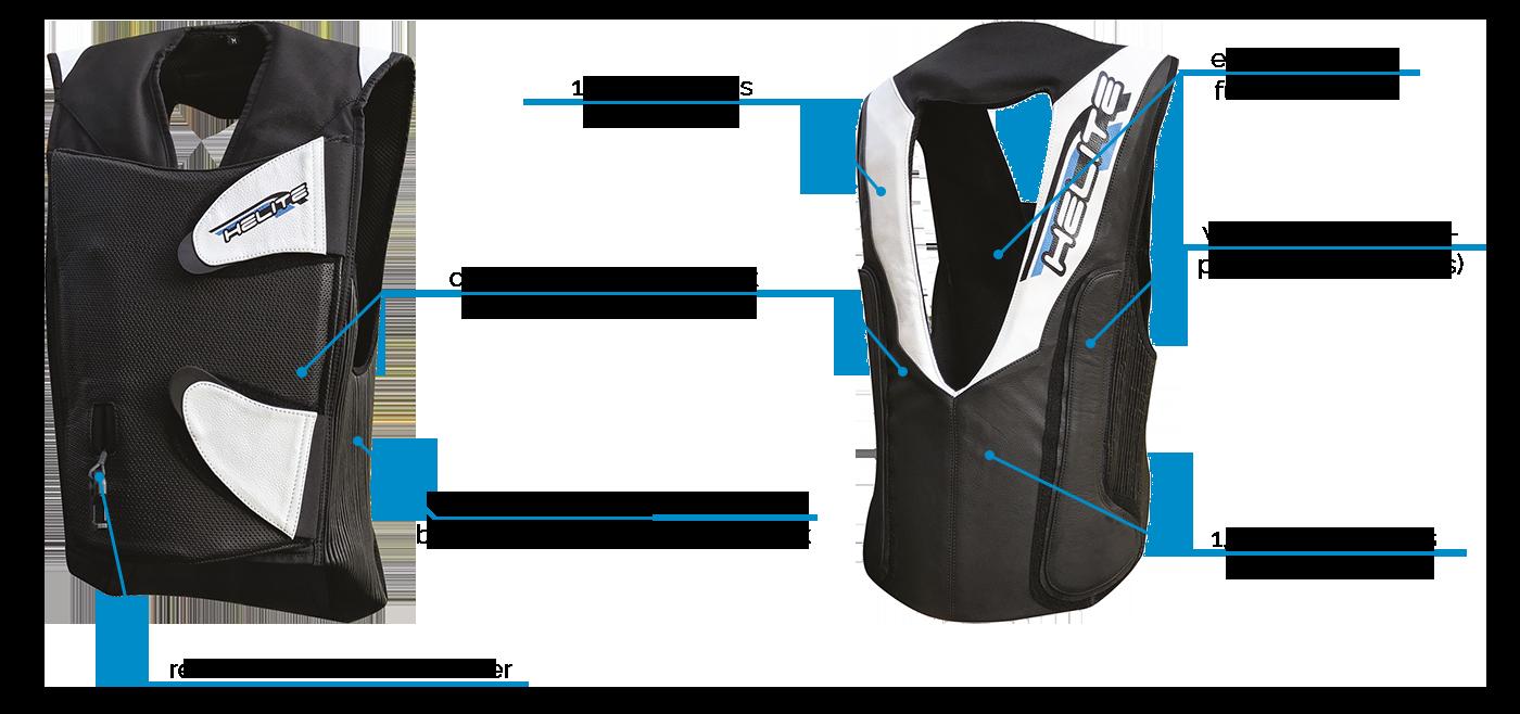 Helite GP-Air 2.0 Airbag-Weste für die Rennstrecke